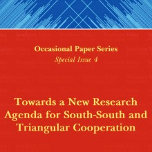Towards a New Research Agenda for South-South and Triangular Cooperation